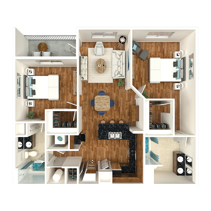 2 bedroom apartments nashville