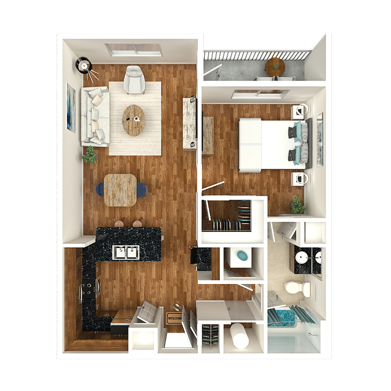nashville apartment floorplan